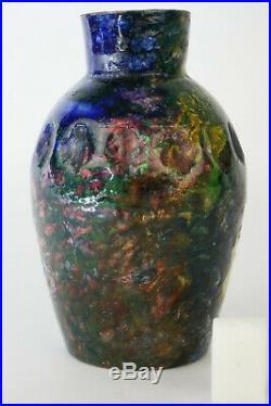 Céramique MAX CLAUDETVASE EN GRES, ceramic art deco, pottery art nouveau