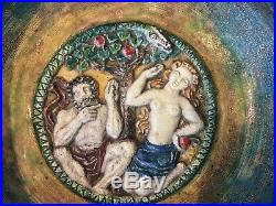 Céramique art déco Louis Muller Victor Canale décor Adam Eve (no buthaud) Lyon