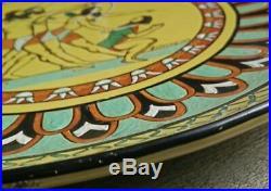 Ceramique art deco signé F. Delarraf 1938. Decor Perce/Égyptien/Orientaliste/