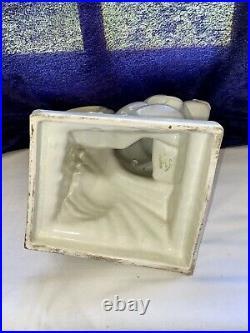 Céramique craquelée St Clément Art déco Lemanceau écureuil 30 cm