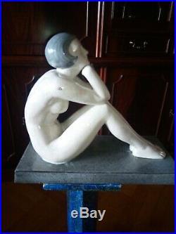 Céramique craquelée art déco Pensées