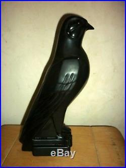 Céramique faïence oiseau signé à identifier Art Déco 1930 moderniste Sculpture