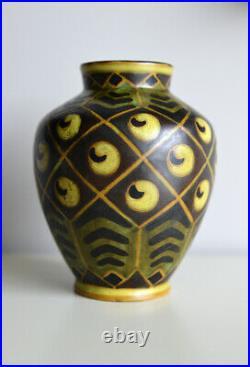 Charles Catteau, vase céramique D994, Boch Frères Keramis, circa 1925, Art Déco