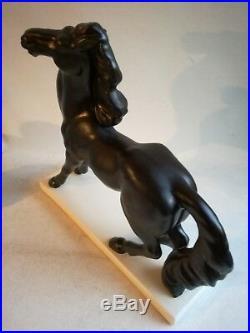 Cheval Refusant Rare Céramique Craquelée Art Déco 1930 Charles Lemanceau