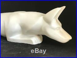 Chien renard ART DECO porcelaine céramique Cérabel signé BM