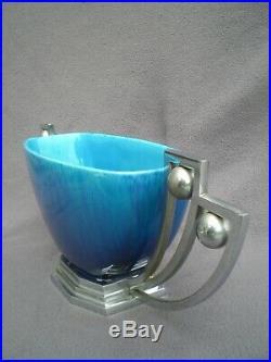 Coupe art deco en ceramique SEVRES PAUL MILET 1930 centre de table antique vase