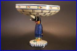 Coupe céramique Henriot Quimper Charles Maillard Art Déco bigouden