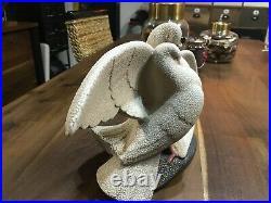 Couple de colombes en céramique crispée sevres vinsare art déco 1930