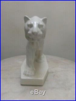 Craquelé Art Déco sculpture LEJAN manufacture d'Orchies céramique