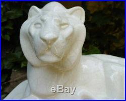 Craquelé Céramique Art Deco Lion 1925-1930