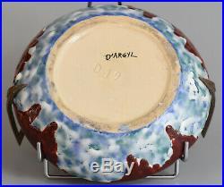 DArgyl Vase Art Déco Céramique et bronze France, ca 1928