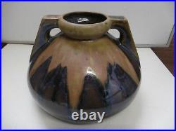 Denbac Pot Vase A Anses Art Deco 1930 Signe Ceramique N° 494