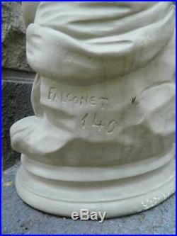 ETIENNE MAURICE FALCONET ANCIENNE STATUE DE FEMME ALLEGORIE XIXeme modèle signé