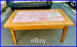 Édouard CAZAUX, très belle table basse en céramique Art Déco Moderniste 1930