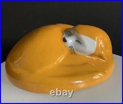 Edouard marcel sandoz-chauffeuse Chat-taille 2-21cm-Haviland-ceramique art deco