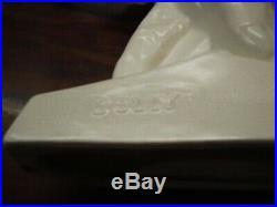 Elephant dolly céramique craquelée blanc 1930 (le jean)