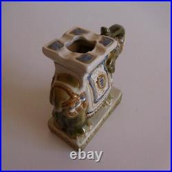 Eléphant sculpture céramique faïence fait main XXe art déco ethnique Inde N3637
