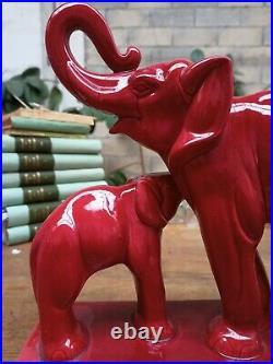 Elephants En Ceramique Vintage Lemanceau Art Deco St Clement