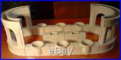 Enorme chemin centre de table faience craquelé ART DECO faience ceramique