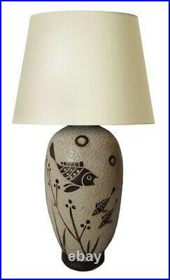 Ernst Graser Pied De Lampe Ceramique Art Deco Moderniste Era 1940