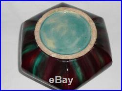 Eugène Baudin vase art nouveau déco céramique H 35 cm St Briac Monaco céramic
