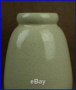 Felix Gete Cab, Vase Epoque Art Deco En Ceramique Craquelee