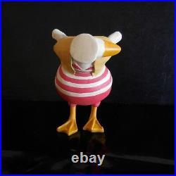 Figurine statue oie canard fait main vintage art déco design XXe France N3365