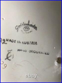 GOLDSCHEIDER JOSEF LORENZL art déco 1930 AUSTRIAN céramique modèle 6229