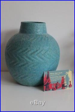 Georges JAEGLE VASE Céramique Art Déco Era Lachenal Design XXe