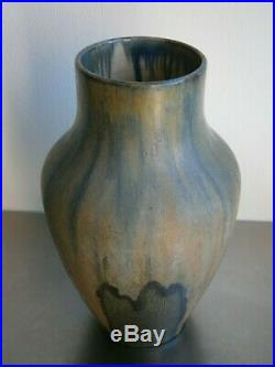 Grand Vase 1930 Gres Puisaye Ceramique Art Deco Primavera Lebret Maure Ancien
