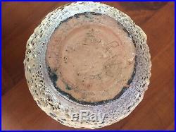 Grand Vase ART DECO ART NOUVEAU Signe M R Céramique Nid D'abeilles