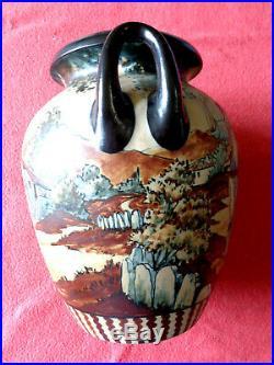 Grand Vase A Ances De Ciboure Ceramique Art Deco Antiquite Signe Artiste R Berne