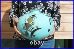 Grand Vase Boule Céramique Saint Radegonde Gustave ASCH Art déco