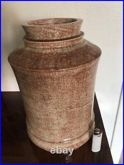 Grand Vase art déco céramique Marcel Guillard Etling Paris France 1930 (FRAU)