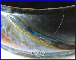Grand cache-pot Art Déco grès émaillé Denbac 518 Vierzon céramique XXe