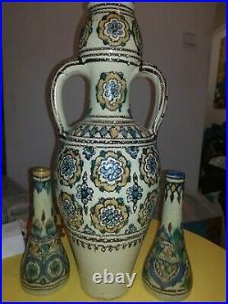 Grand vase et paire soliflore DE VERCLOS nabeul tunisie