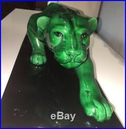 Grande Statue Animalière SAINT CLEMENT non signée en Céramique Art Déco