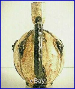 Grande céramique d'Art signée Sylvain Sttublet 1890-1985. D'époque 50/60