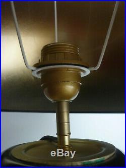 Grande lampe en céramique laquée style Art Déco