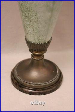 Grande paire de vases céramique et bronze époque art déco