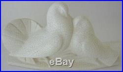 Groupe art-déco en céramique craquelée attribué à Edouard Cazaux (1889-1974)