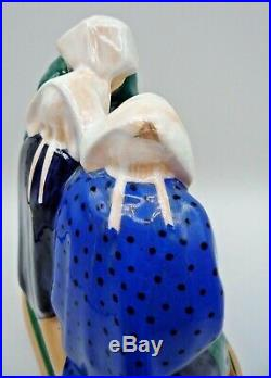 Henriot Quimper sculpture 3 bretonnes céramique art deco