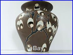 Important Vase Art Deco Art Nouveau Ceramique 1920 1930 20s 30s Vintage