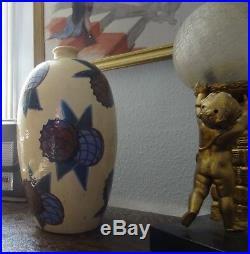 Jean Garillon Elchinger céramique grand vase de période art déco