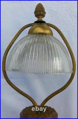 Jean Langlade Grès du Puisaye grande LAMPE décor flammé ART NOUVEAU