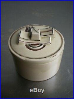 Jean Patou Poudrier Ceramique Art Deco Decor Sonia Delaunay 1930 Ancien