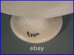 Jeune Femme Nue Vase Style Art Déco Céramique Craquelée Signée Octave Larrieu