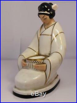 Jeune geisha Japonaise de Robj céramique années 30