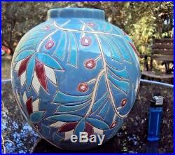 Joli Vase Art-Déco boule en céramique début 20 ème