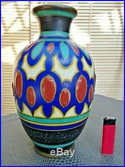Joli vase en céramique art-déco marque FORMA hollande